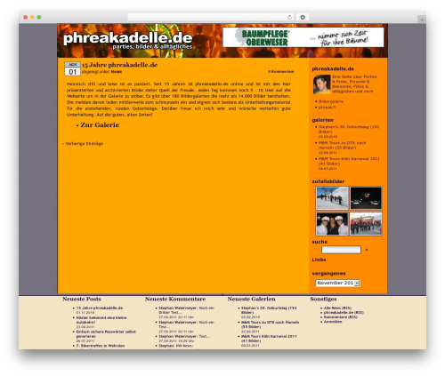 WordPress Default DE-Edition theme WordPress - phrk.de