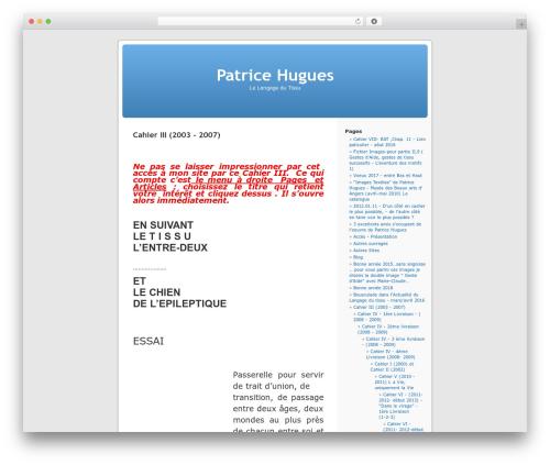 WordPress Default Fr WordPress theme - patricehugues.fr