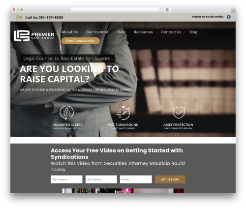 WordPress template Lawyer by Osetin - premierlawgroup.net