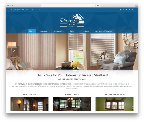 WordPress theme The7 - picassoshutters.com