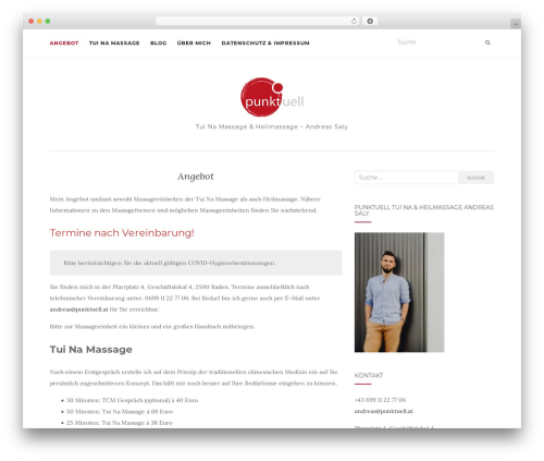 WordPress website template Activello - punktuell.at