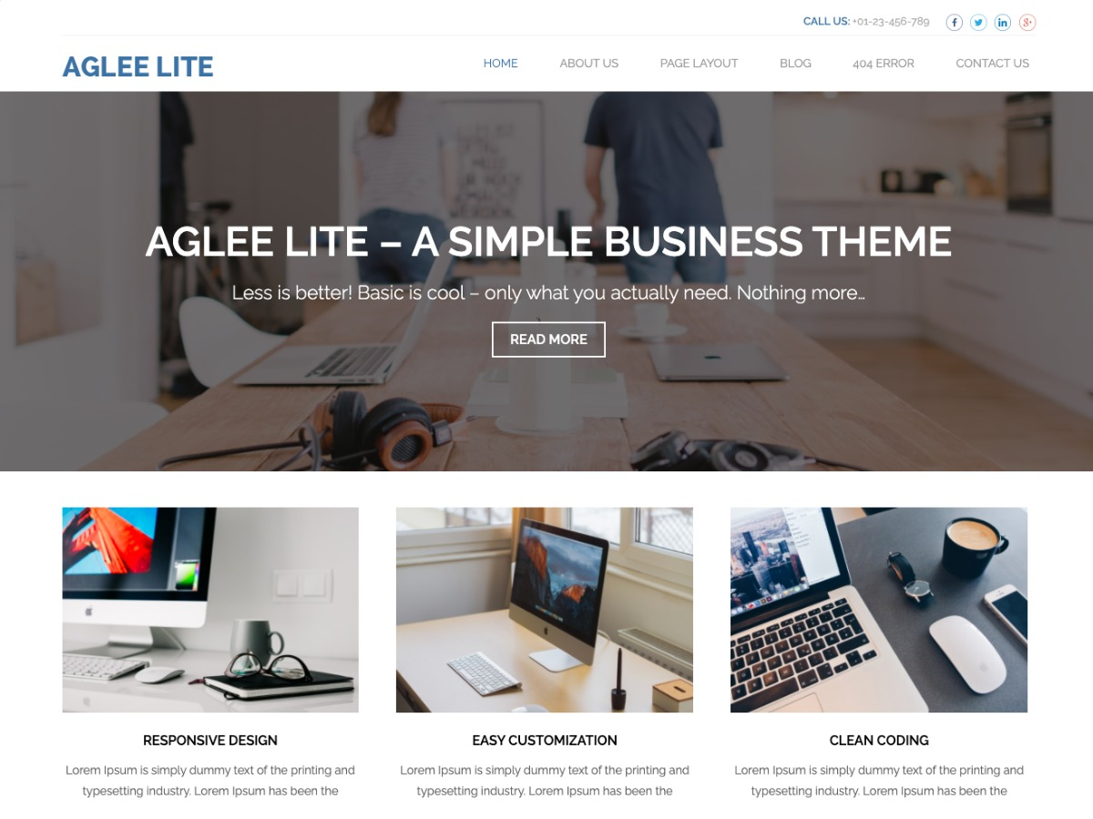 Aglee Lite free website theme