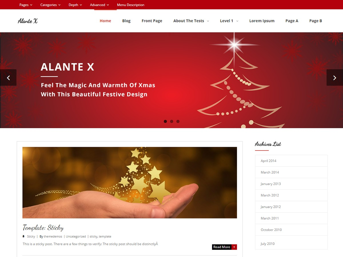 Alante X WordPress theme free download