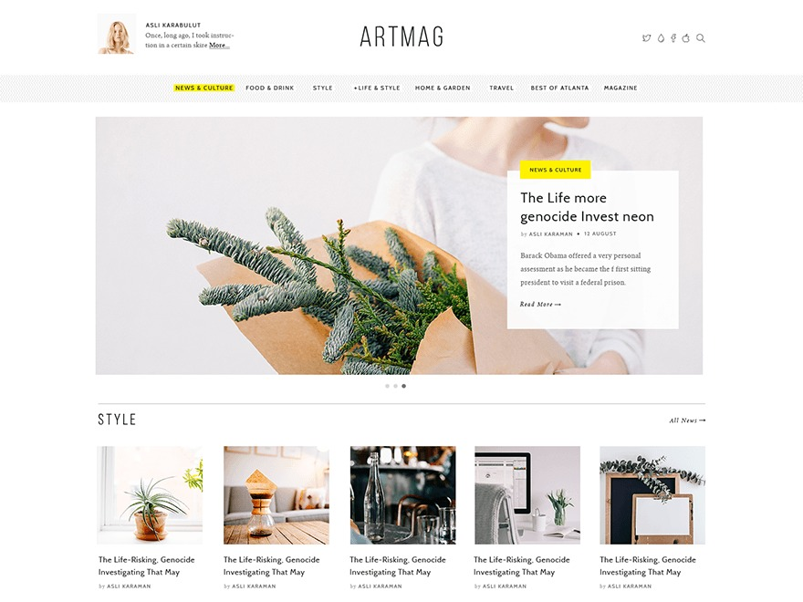 Artmag Child Theme WordPress theme