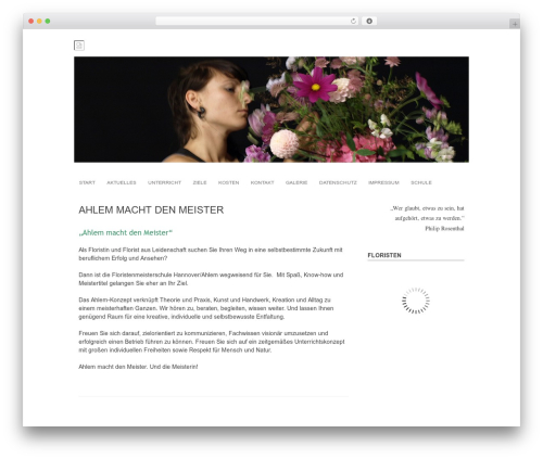 Arunachala template WordPress free - floristmeisterschule-hannover.de