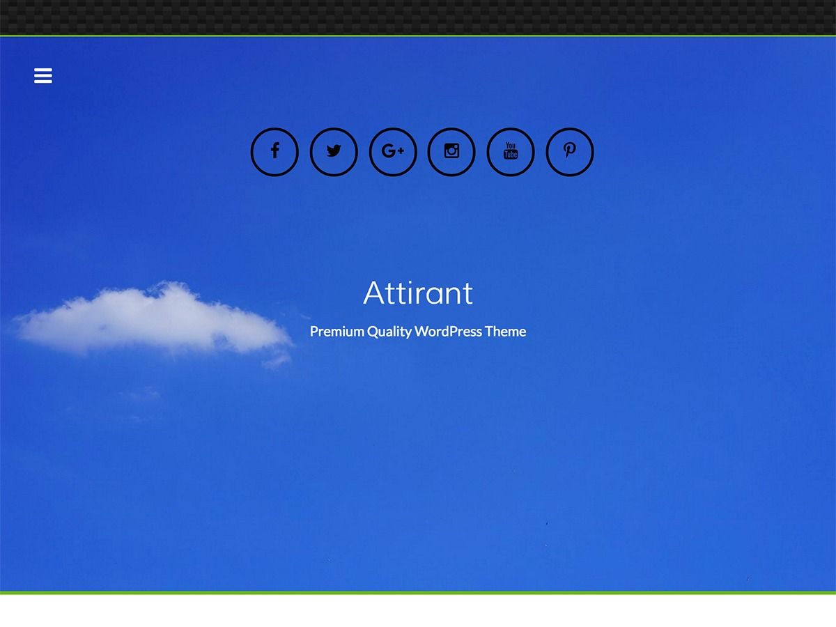 Attirant WordPress template free