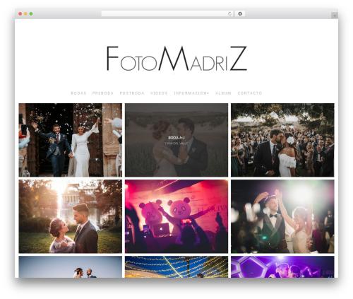 Best WordPress template Bokeh Pro 2 - fotomadriz.com