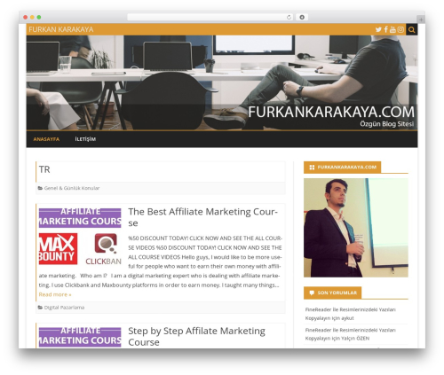 Best WordPress template Ribosome - furkankarakaya.com