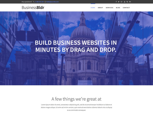 Business Express WordPress template free