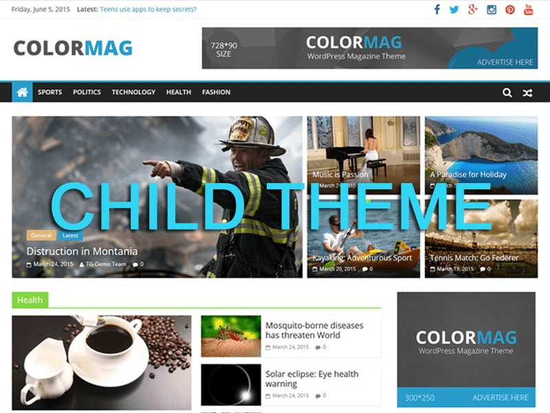 Colormag Child Theme WP theme