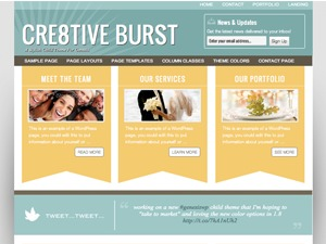 Creative Burst Child Theme WordPress theme