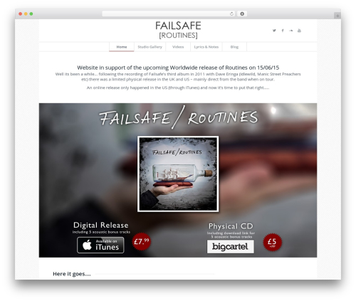 Enfold WordPress theme - failsafemusic.net
