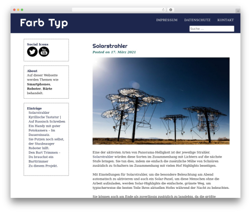 eyesite best free WordPress theme - farb-typ.de