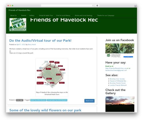 Flint free WordPress theme - friendsofhavelockrec.org