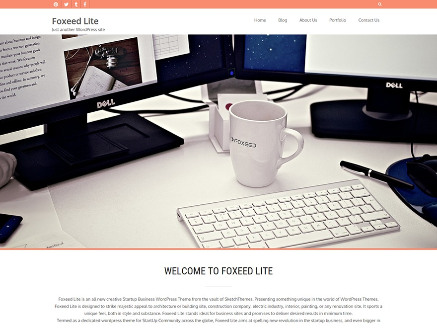 Foxeed Lite free WP theme