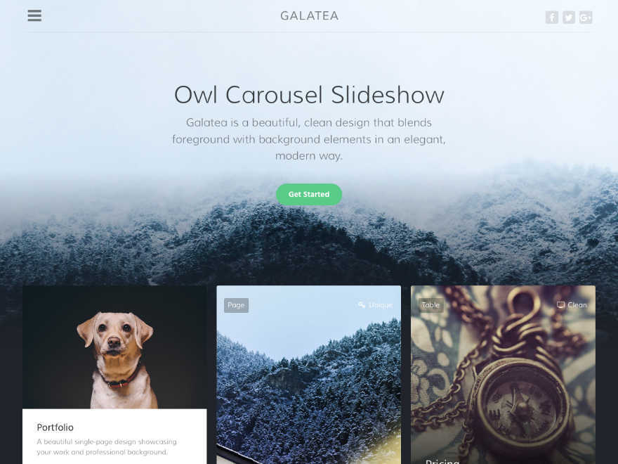Galatea WordPress theme