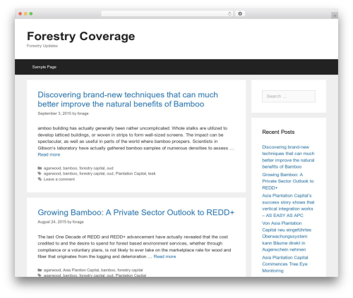 GeneratePress WordPress theme free download - forestrycoverage.com