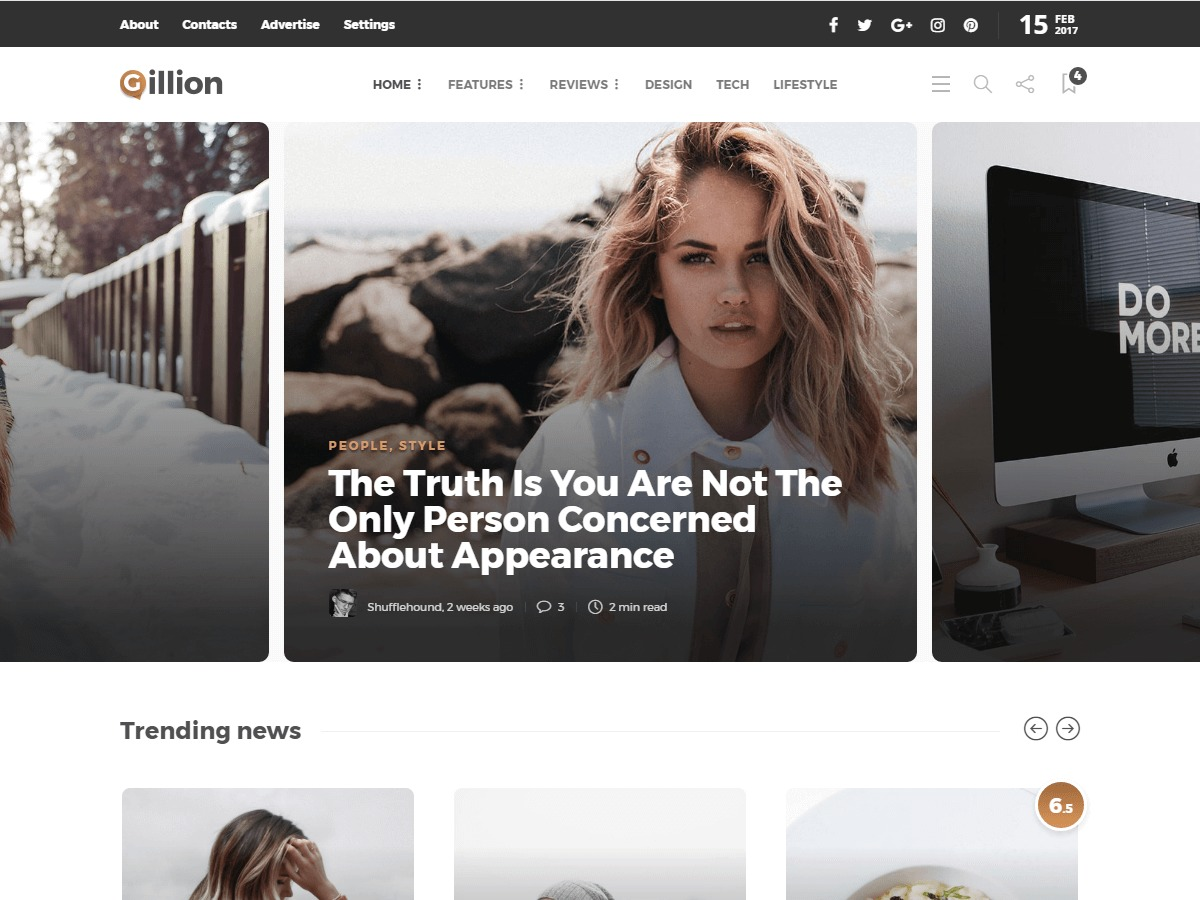 Gillion WordPress news theme
