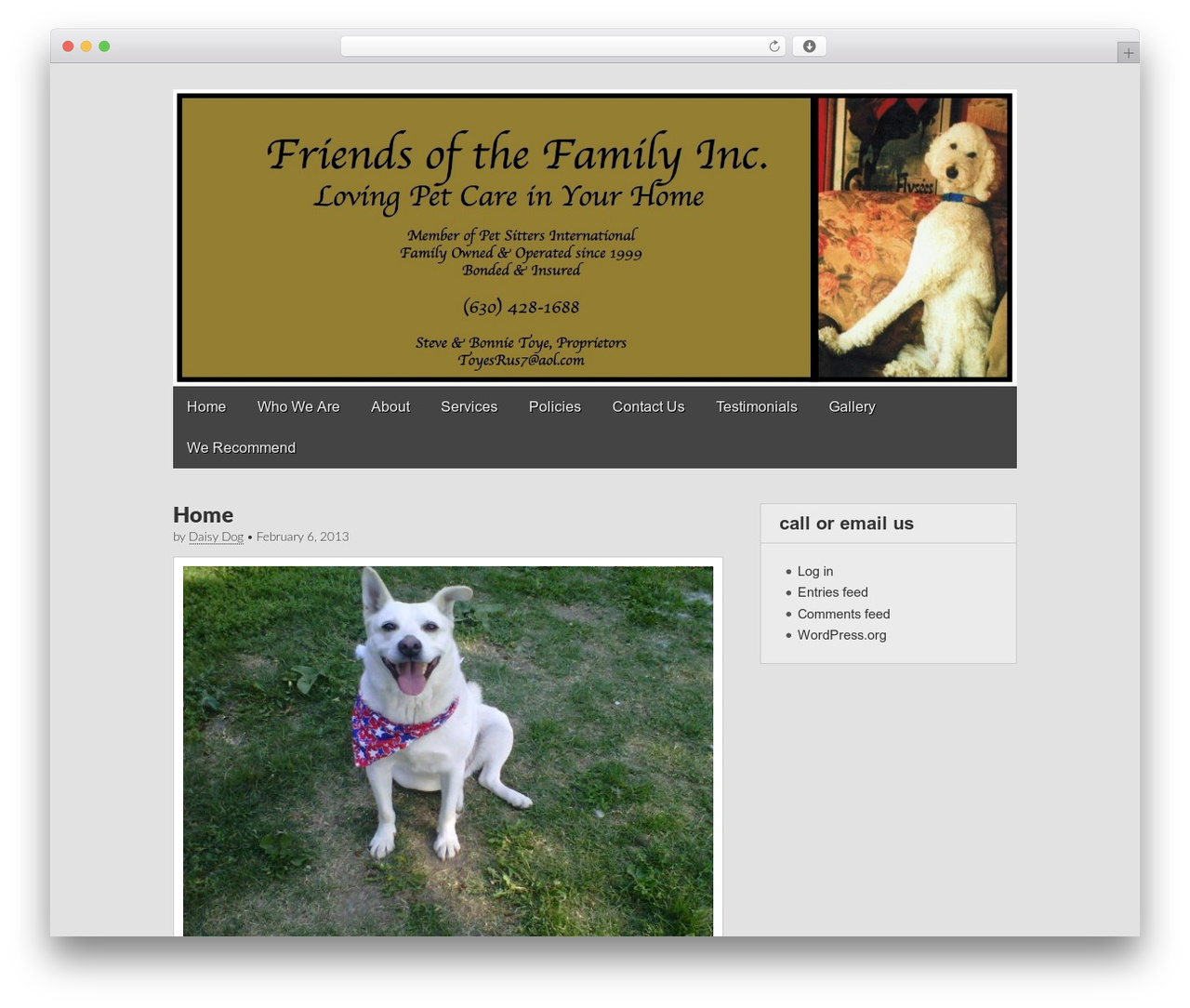 Gridiculous free WordPress theme - friendsofthefamilyinc.com