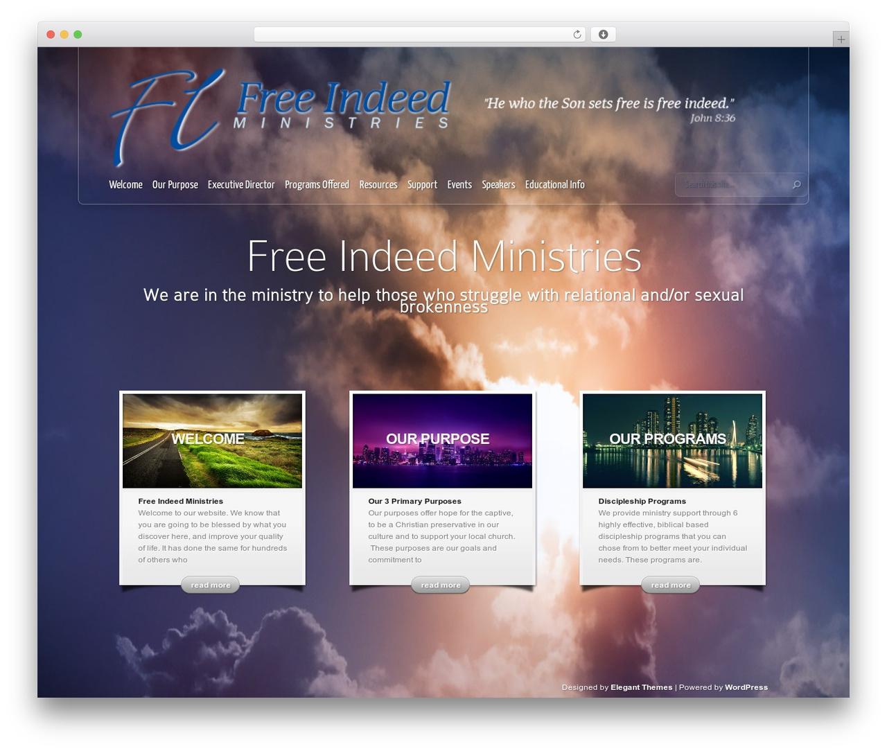 InStyle premium WordPress theme by Elegant Themes