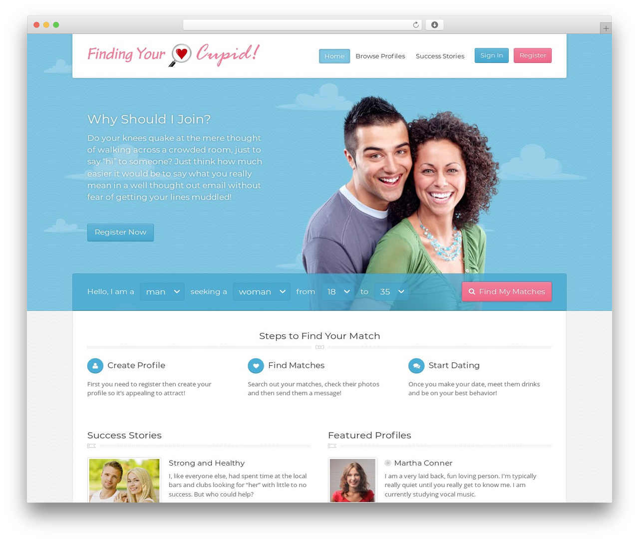 Your cupid matches website