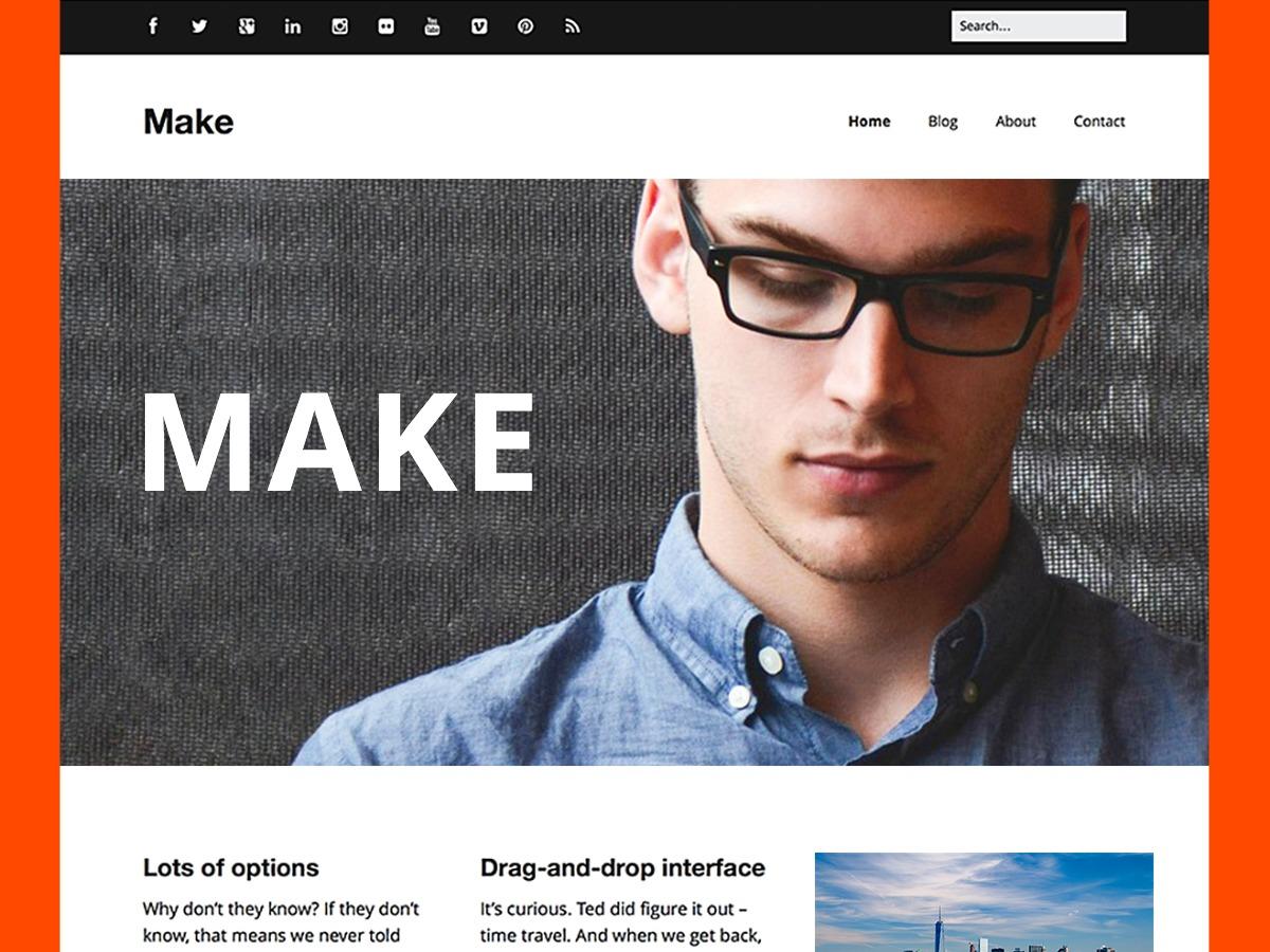 Make Child Theme WordPress theme design