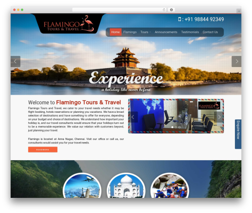 Free WordPress Responsive Menu plugin - flamingotoursntravel.com