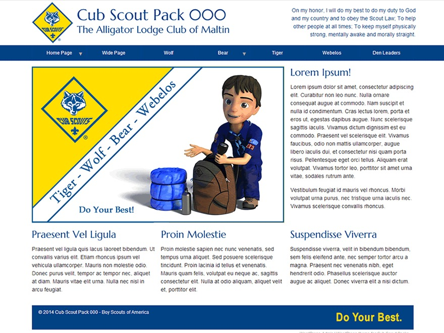 Scout Pack WordPress theme