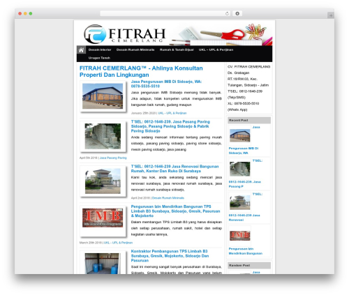 Simple Fast Responsive WordPress page template - fitrahcemerlang.com