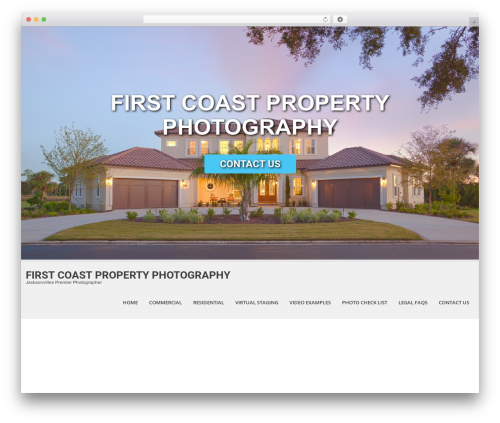 SKT White photography WordPress theme - firstcoastpropertyphotography.com