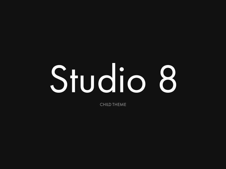Studio 8 (Child Theme) WordPress theme