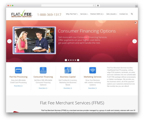 The7 WordPress website template - flatfeemerchantservices.com