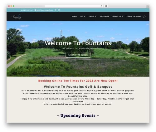 Theme WordPress Divi - fountainsgolf.com