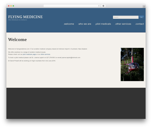 Uniqueness Red WordPress theme - flyingmedicine.com