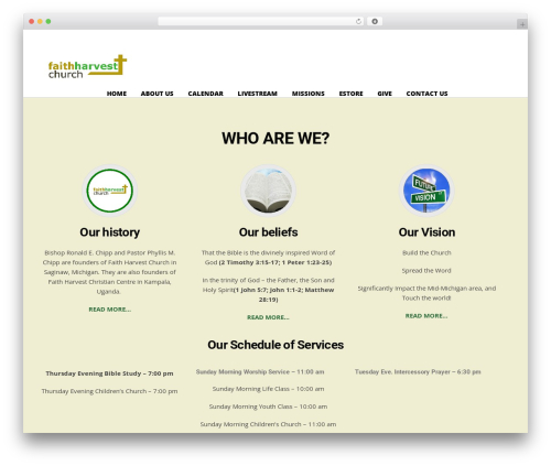 Utmost WordPress theme design - faithharvestministry.org
