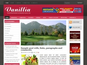 Vanillia WordPress blog theme