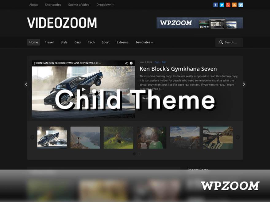 Videozoom Child WordPress video template