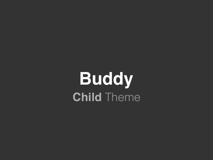 WordPress template Buddy Child