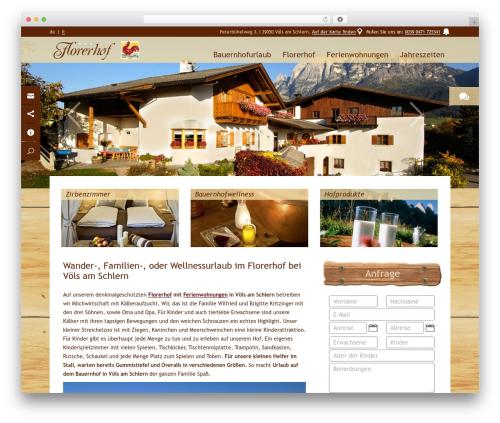 WordPress template Florerhof - florerhof.it
