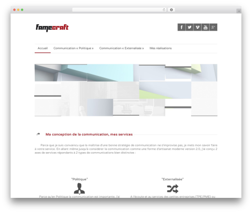 WordPress template Quare - famecraft.com