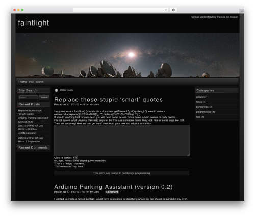 WordPress template raindrops - faintlight.com