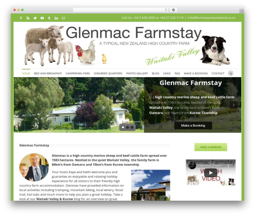WordPress theme Avada - farmstaynewzealand.co.nz
