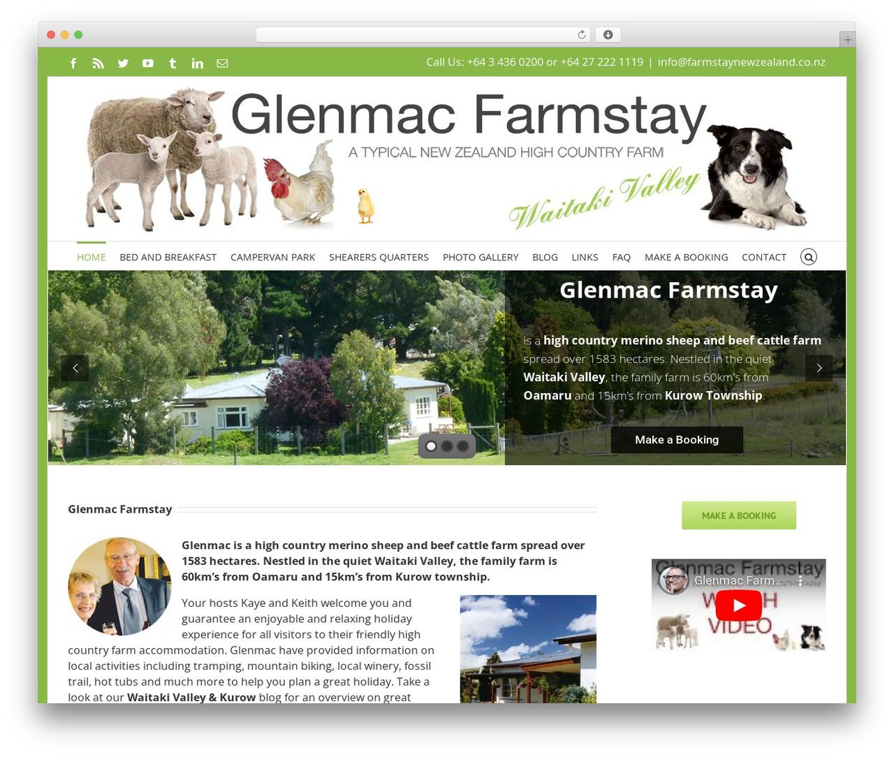 WordPress theme Avada - farmstaynewzealand.co.nz
