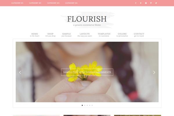 WordPress theme Flourish Theme