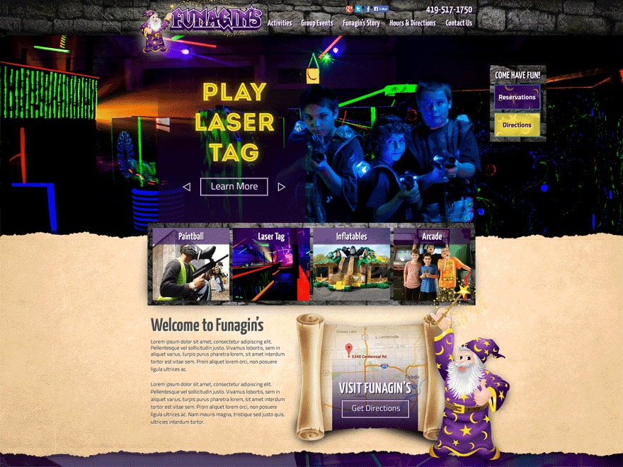 WordPress theme Funagins