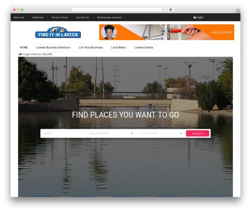 WordPress theme Javo Directory - finditinlaveen.com