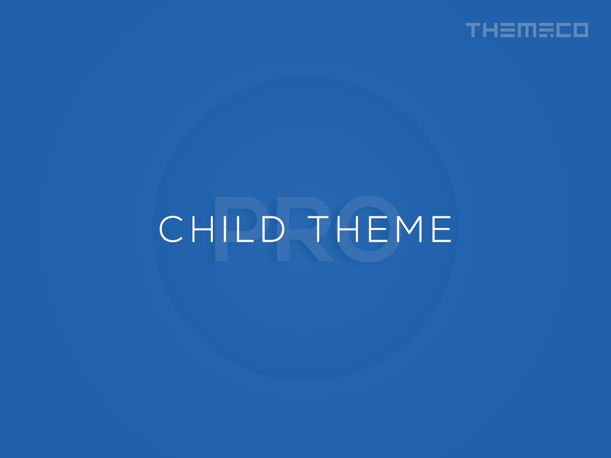 WordPress theme Pro – Child Theme