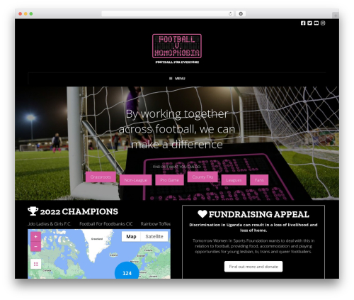 WordPress website template X - footballvhomophobia.com