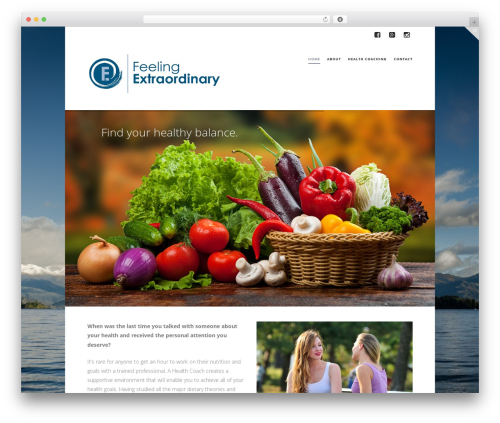 X best WordPress theme - feelingextraordinary.com