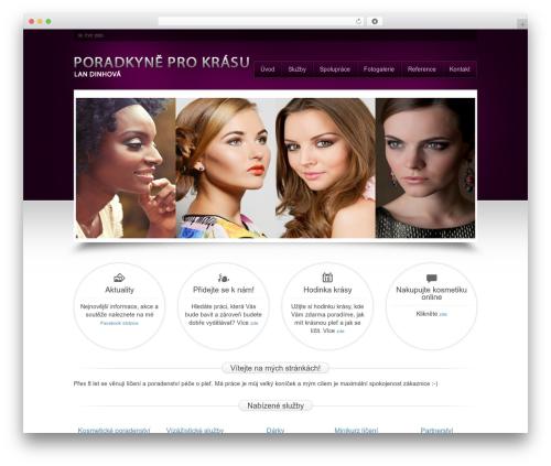 Beauty Salon template WordPress - poradkyne.eu
